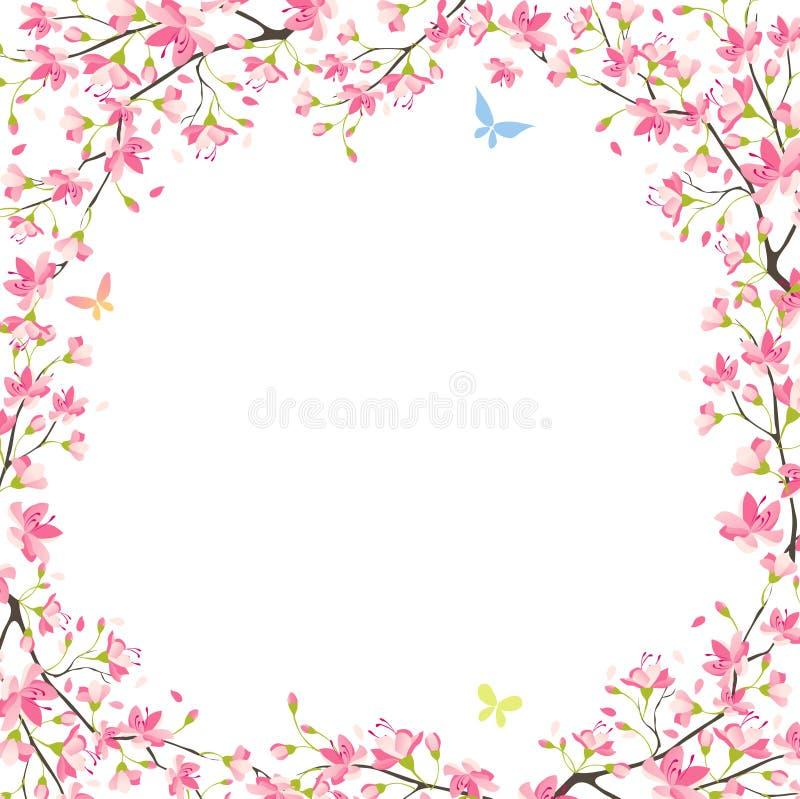 Blocco per grafici di Sakura illustrazione di stock