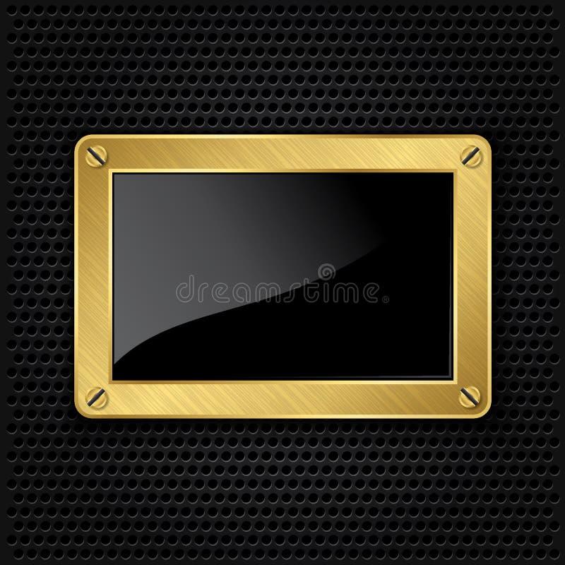 Blocco per grafici dorato con le viti illustrazione di stock
