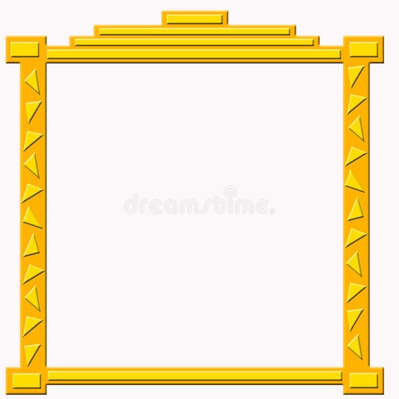 Download Blocco Per Grafici Dorato Decorativo Illustrazione di Stock - Illustrazione di curvo, bordo: 3143127