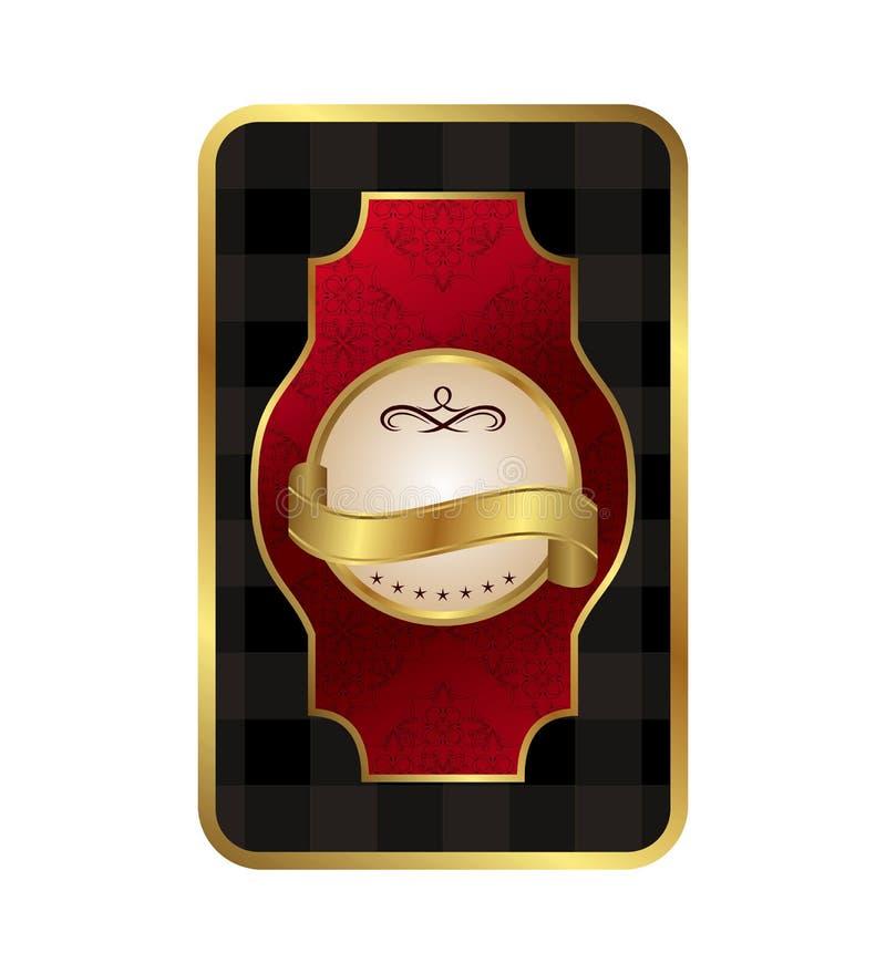 Blocco per grafici dorato decorativo decorato royalty illustrazione gratis