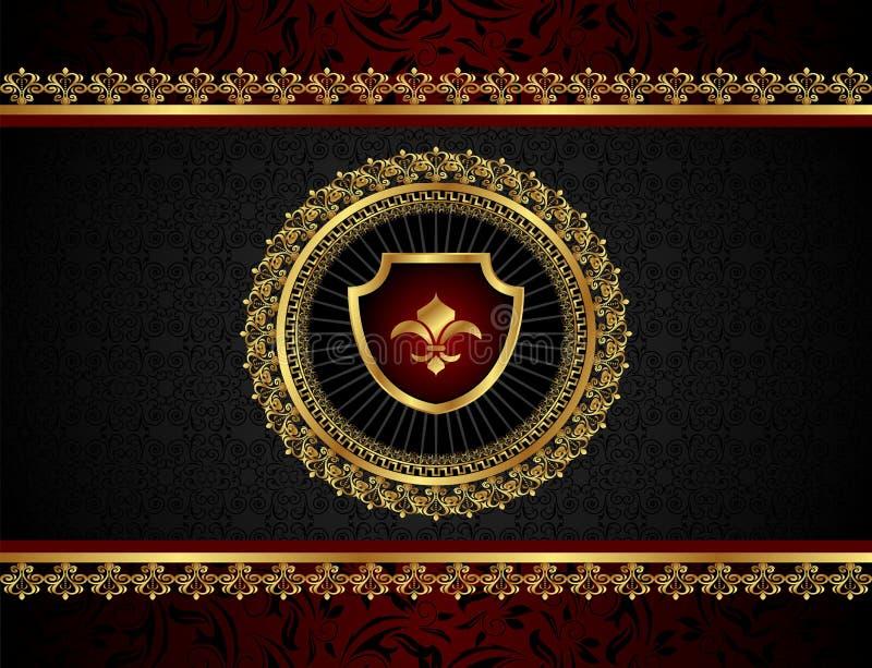 Blocco per grafici dorato dell'annata con lo schermo royalty illustrazione gratis