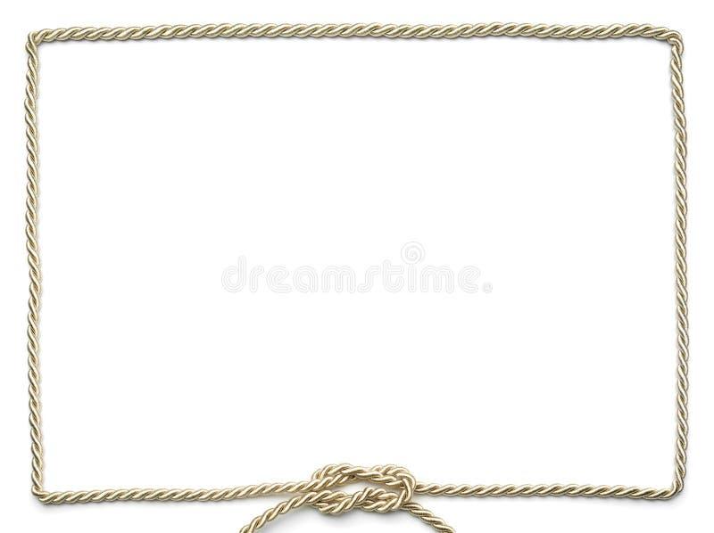 Blocco per grafici dorato della corda immagini stock libere da diritti