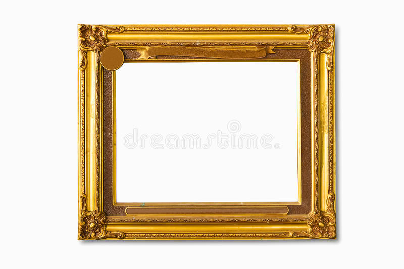 Blocco per grafici dorato della foto immagini stock libere da diritti