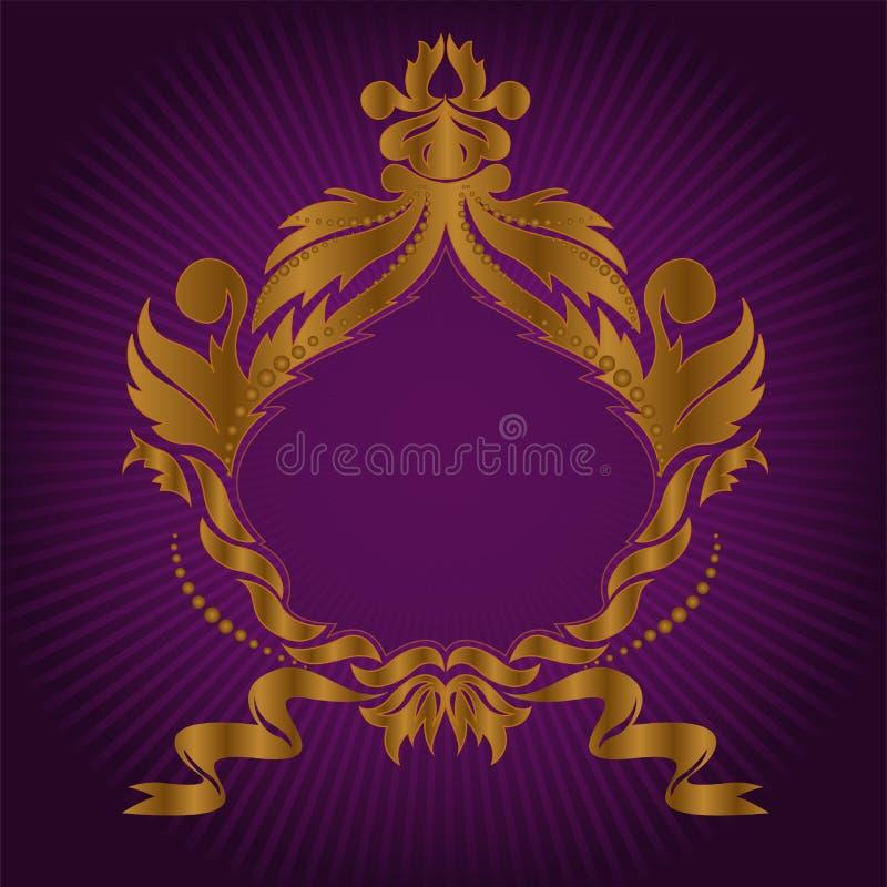 Blocco per grafici dorato sul lillà illustrazione di stock