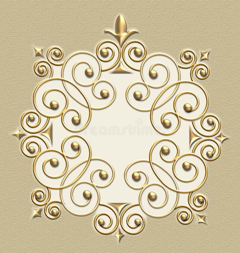 Blocco per grafici elegante di turbinio dell'annata royalty illustrazione gratis