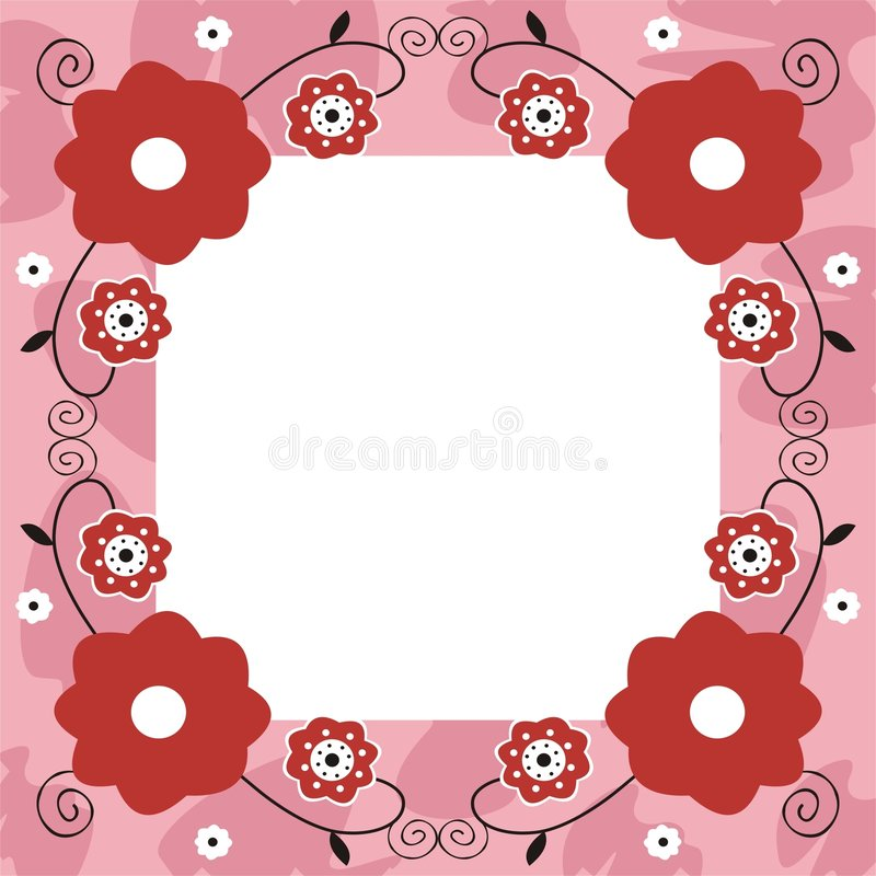 Blocco per grafici floreale illustrazione vettoriale