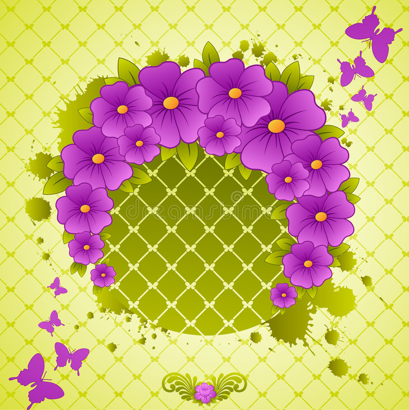 Blocco per grafici floreale. illustrazione di stock