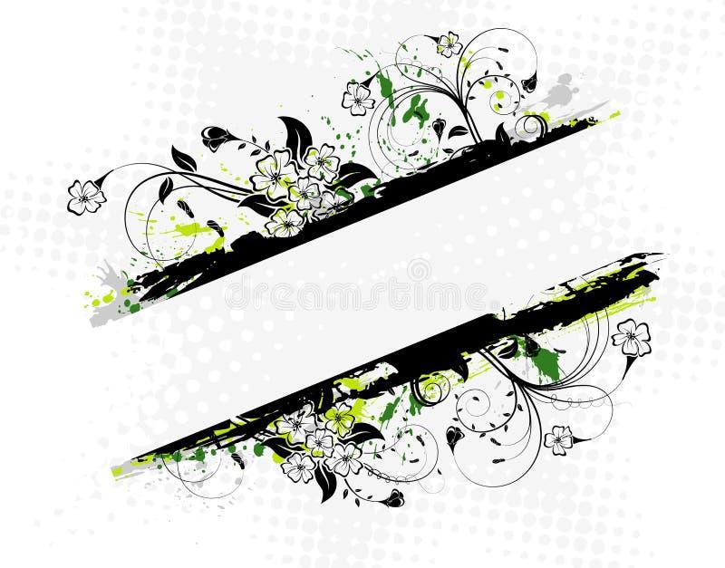 Blocco per grafici floreale astratto illustrazione vettoriale