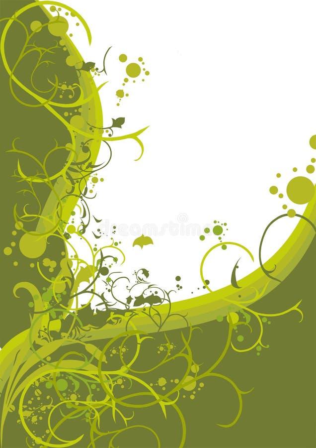 Blocco per grafici floreale decorativo illustrazione vettoriale