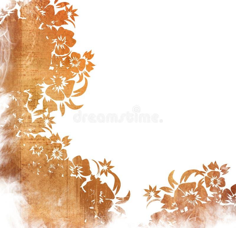 Blocco per grafici floreale degli ambiti di provenienza di stile illustrazione di stock