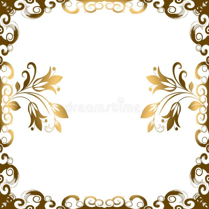 Blocco per grafici floreale del bordo illustrazione vettoriale
