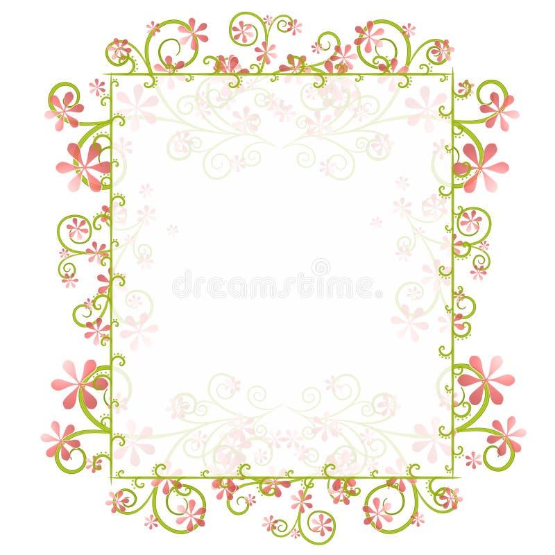 Blocco per grafici floreale del bordo della sorgente decorativa illustrazione vettoriale