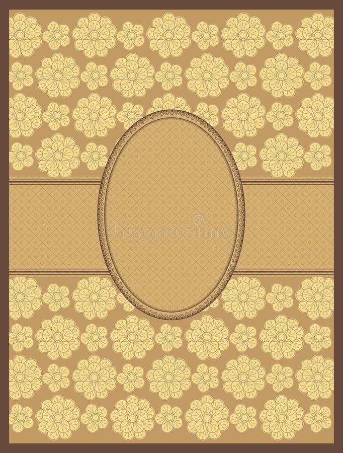 Blocco per grafici floreale del disegno a tratteggio. vettore illustrazione vettoriale