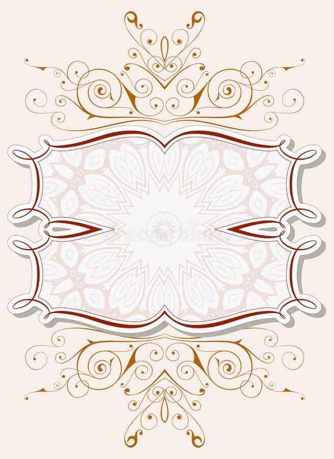 Blocco per grafici floreale dell'annata illustrazione vettoriale