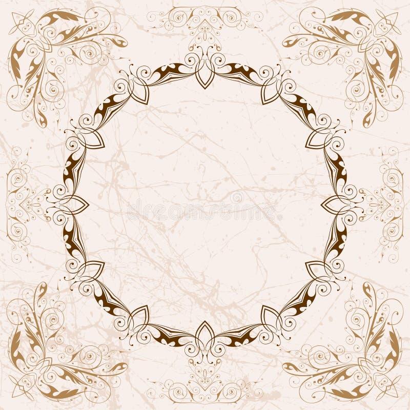 Blocco per grafici floreale dell'annata royalty illustrazione gratis