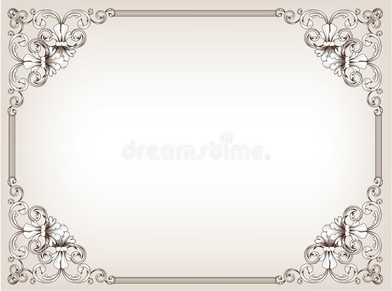 Blocco per grafici floreale dell'annata fotografie stock libere da diritti