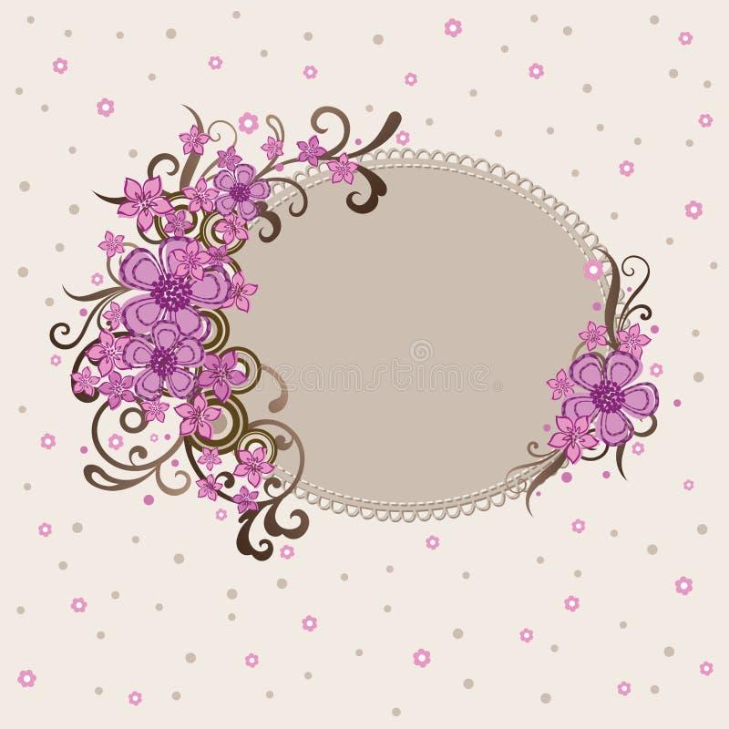 Blocco per grafici floreale dentellare decorativo illustrazione vettoriale
