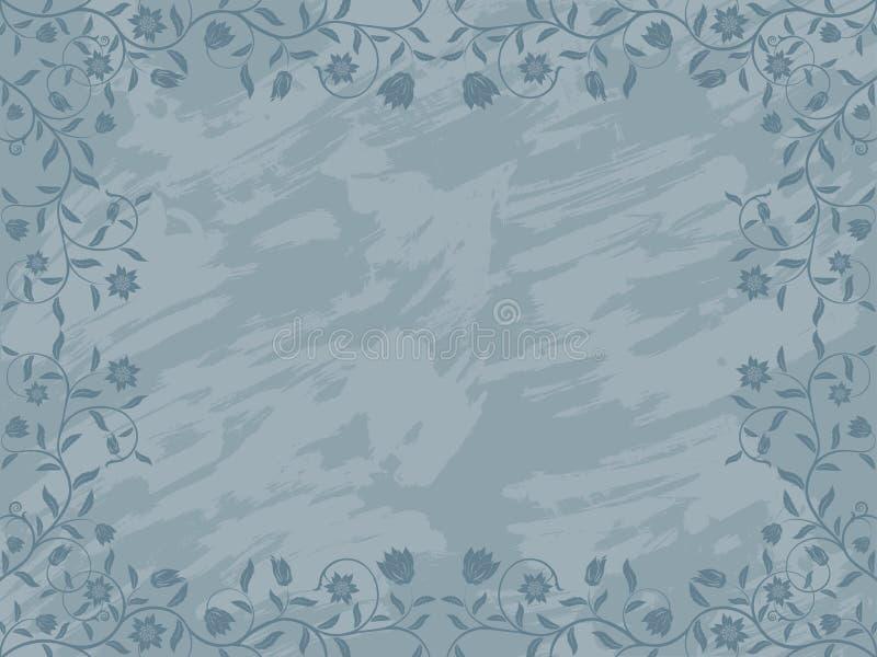 Blocco per grafici floreale di Grunge. illustrazione vettoriale
