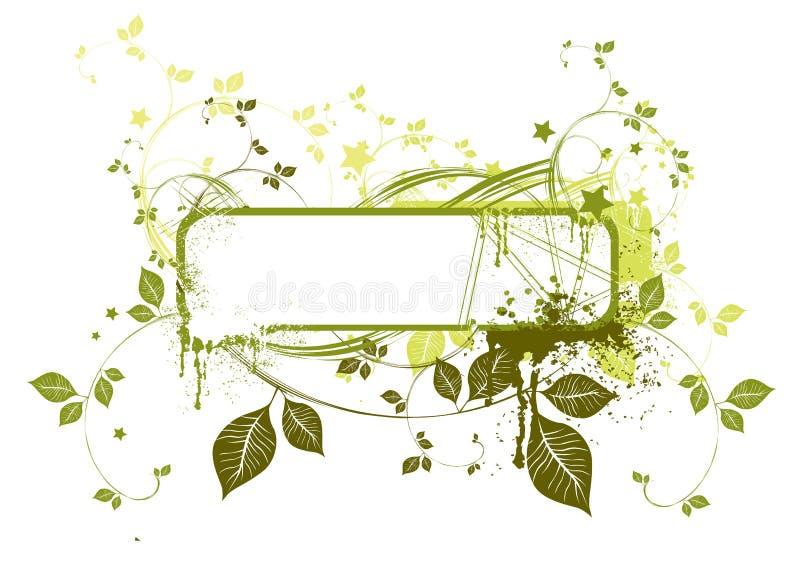 Blocco per grafici floreale di Grunge illustrazione di stock
