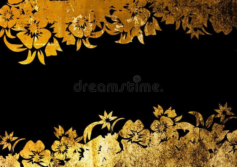 Blocco per grafici floreale di stile illustrazione di stock