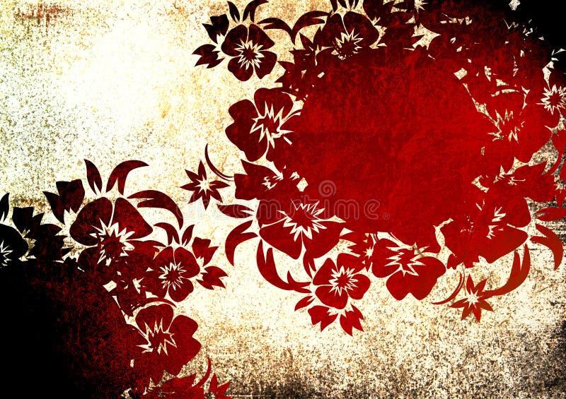 Blocco per grafici floreale di stile illustrazione vettoriale