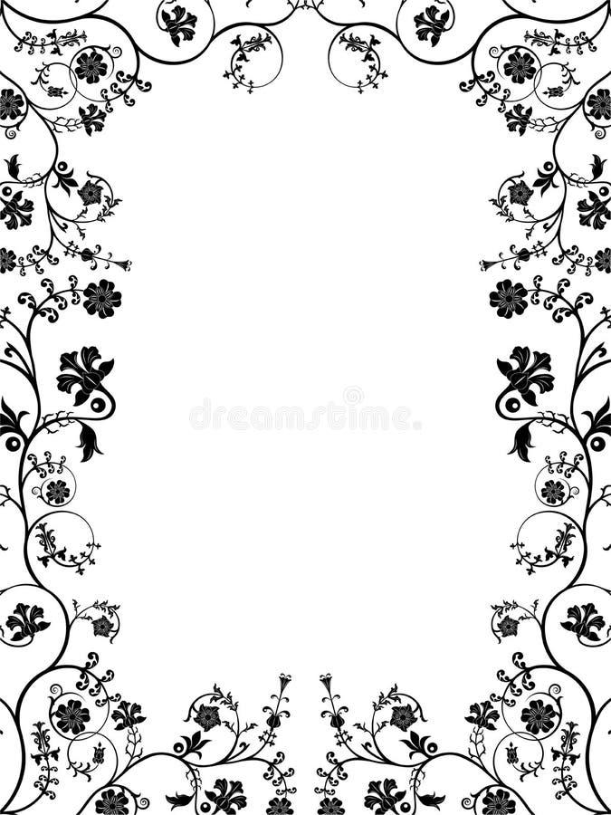 Blocco per grafici floreale di vettore. illustrazione vettoriale