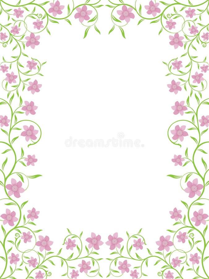 Blocco per grafici floreale di vettore illustrazione vettoriale