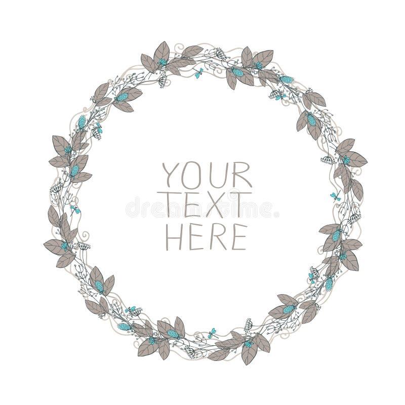 Blocco per grafici floreale di vettore royalty illustrazione gratis