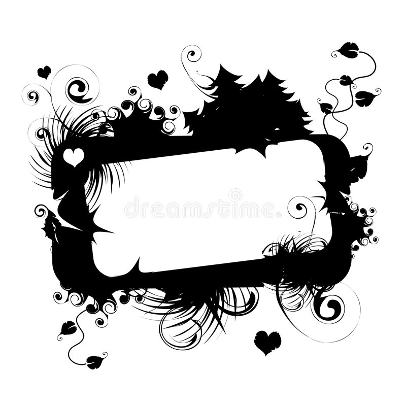 Download Blocco Per Grafici Floreale Di Vettore Con Il Posto Illustrazione Vettoriale - Illustrazione di vernice, curva: 3875296