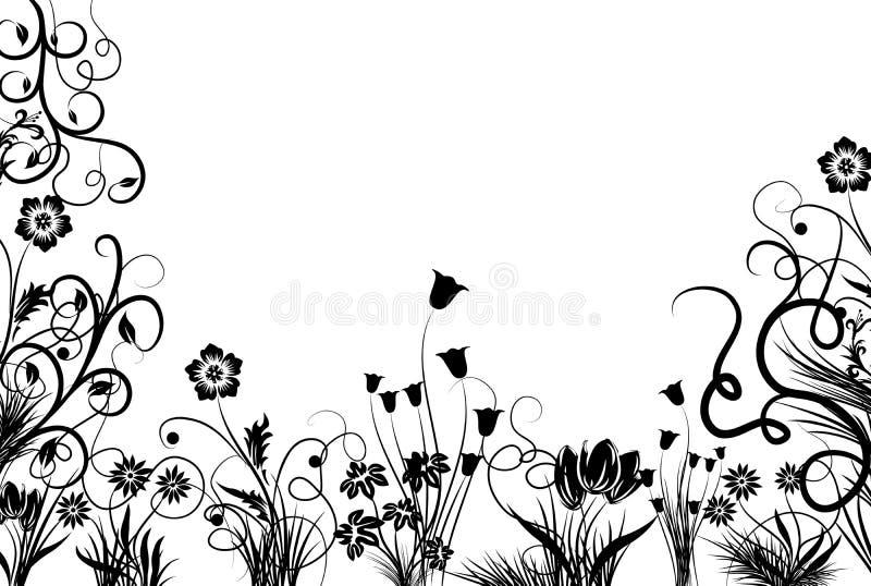 Blocco per grafici floreale, vettore illustrazione vettoriale
