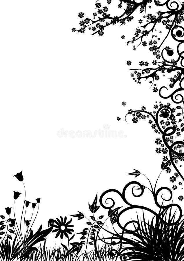 Blocco per grafici floreale, vettore illustrazione di stock