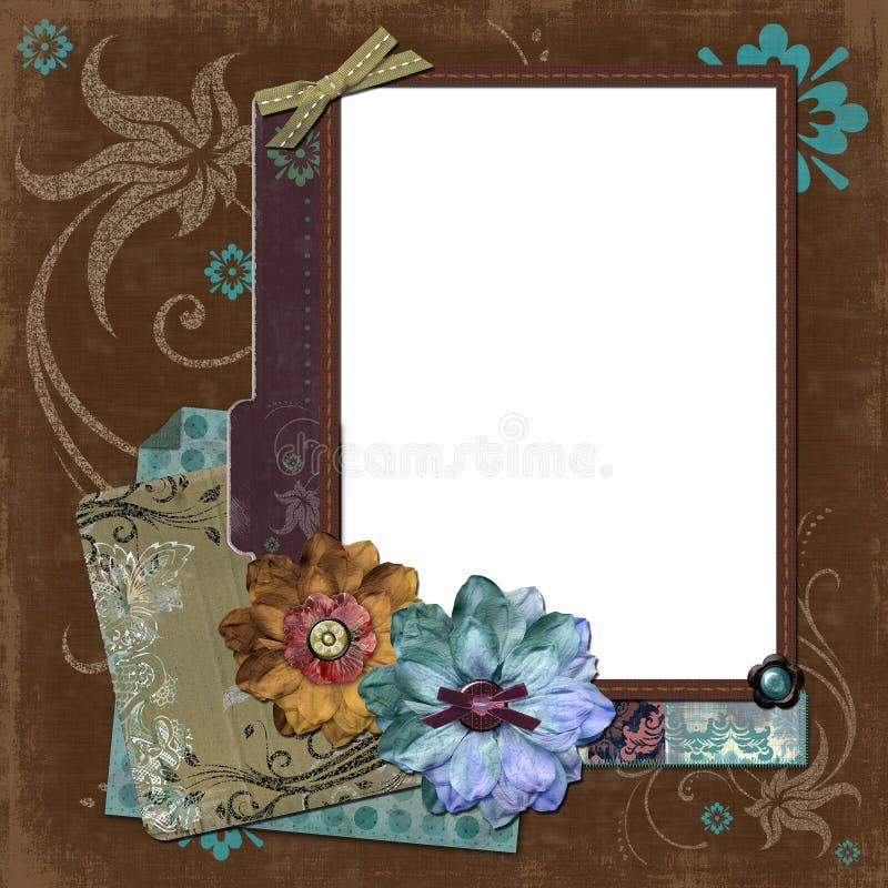 Blocco per grafici floreale zingaresco della Boemia royalty illustrazione gratis