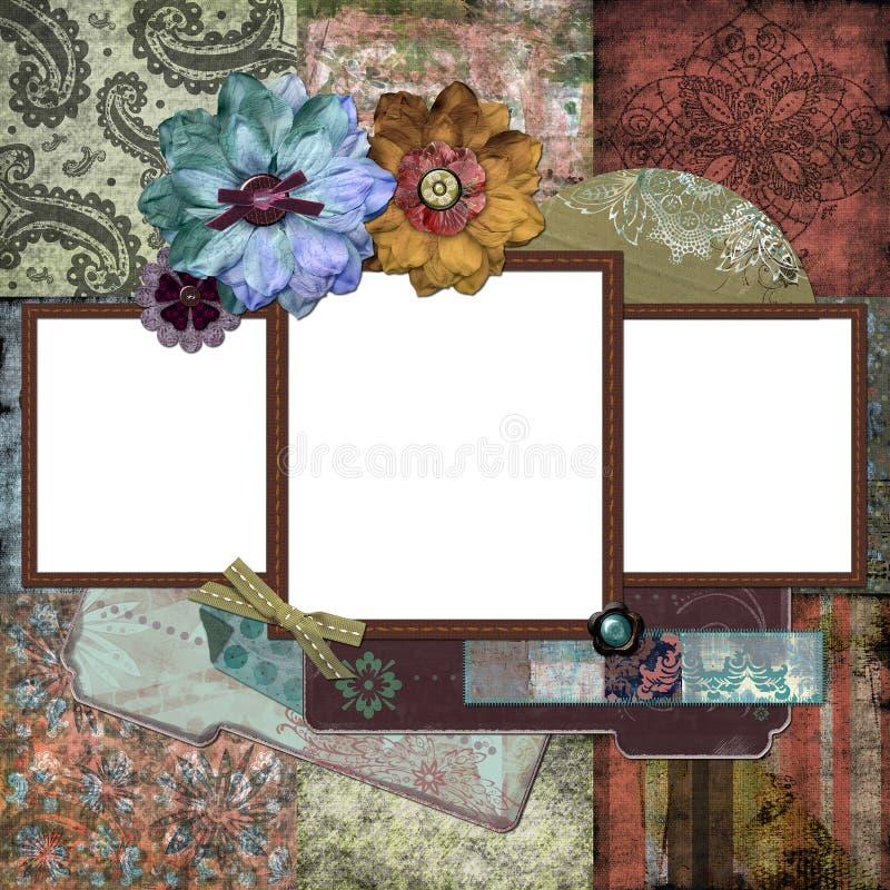 Blocco per grafici floreale zingaresco della Boemia illustrazione di stock