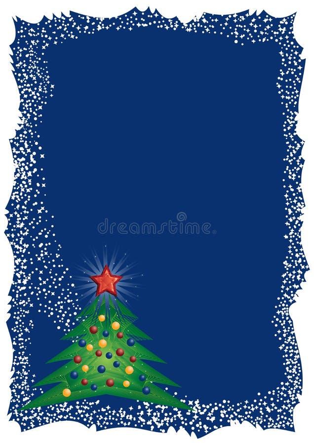 Blocco per grafici gelido dell'albero di Natale royalty illustrazione gratis