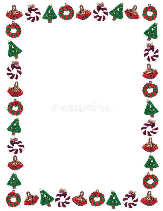 Blocco per grafici Handmade dell'ornamento di festa di natale illustrazione di stock