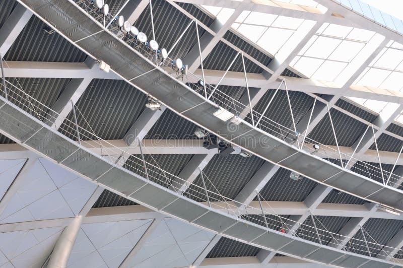 Blocco per grafici interno della costruzione della struttura d'acciaio fotografia stock libera da diritti