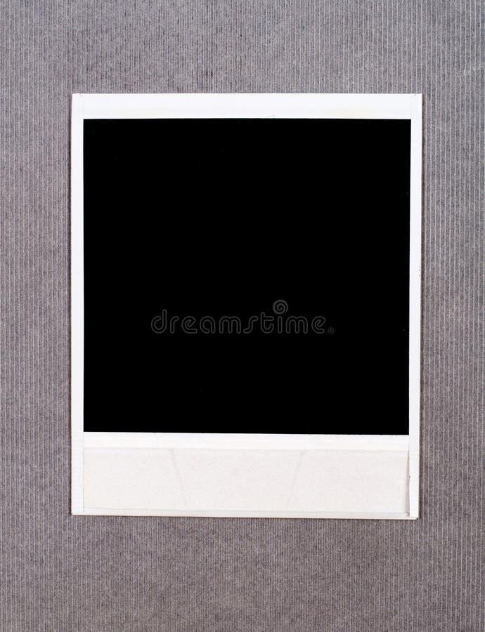 Blocco per grafici istante in bianco della foto fotografia stock