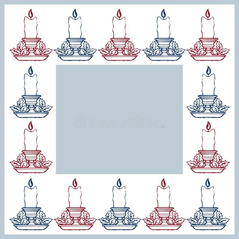 Blocco per grafici magico blu di natale royalty illustrazione gratis