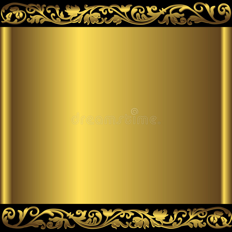 Blocco per grafici metallico dorato antico illustrazione di stock