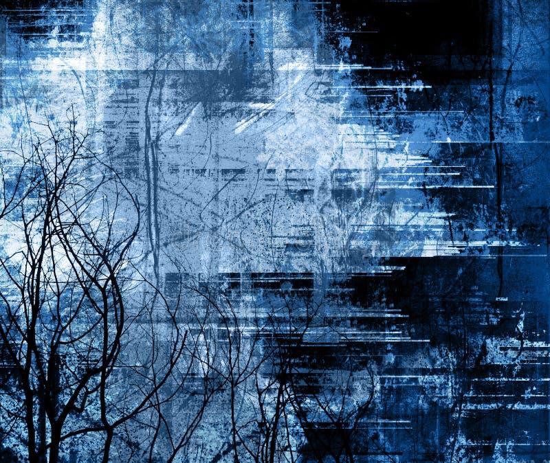 Blocco per grafici Midnight del grunge illustrazione di stock