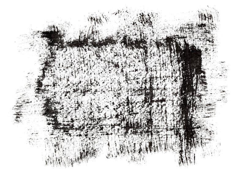 Blocco per grafici nero del grunge illustrazione di stock