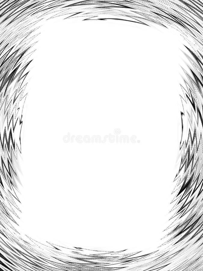 Blocco per grafici nero dentellato della foto illustrazione di stock