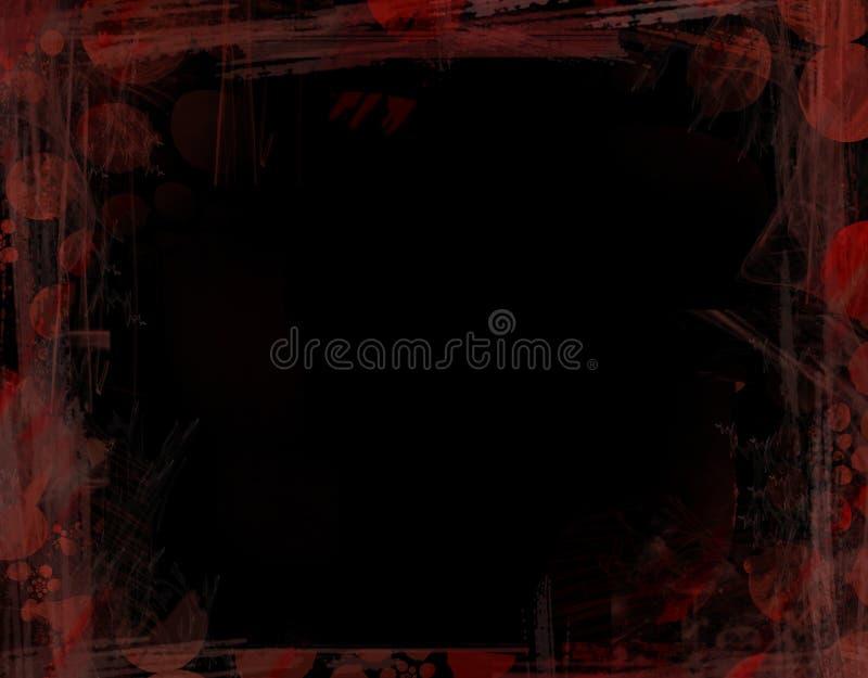 Blocco per grafici nero e rosso di Grunge royalty illustrazione gratis