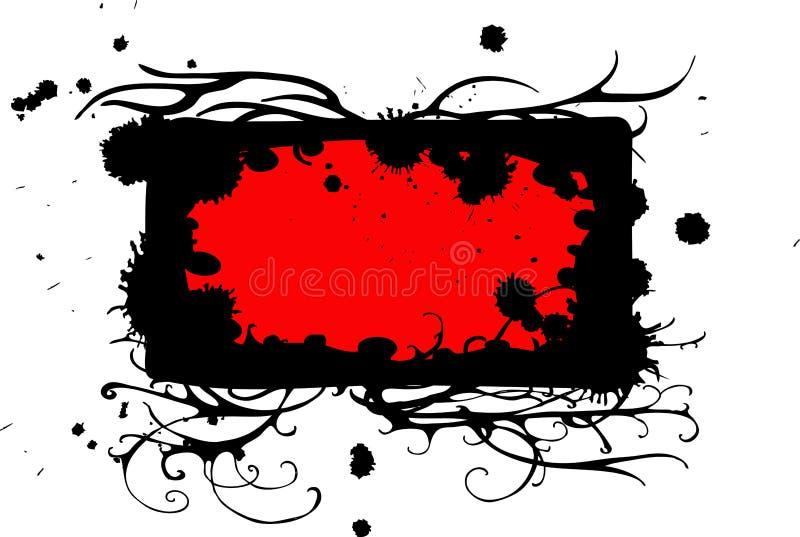 Blocco per grafici nero rosso illustrazione vettoriale