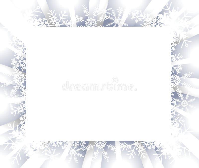 Blocco per grafici o bordo del fiocco di neve illustrazione vettoriale