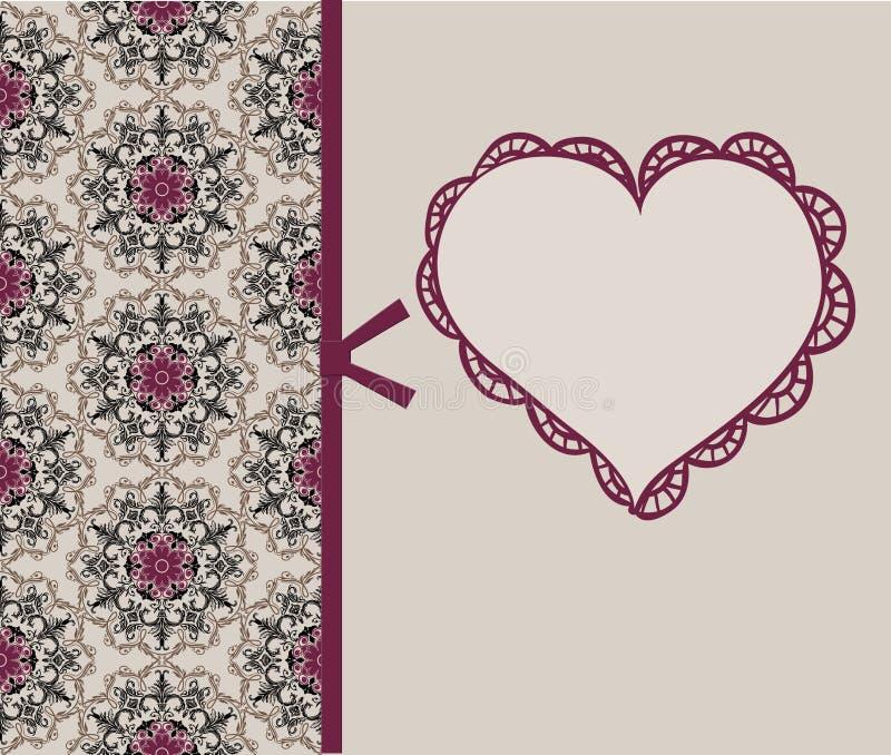 Blocco per grafici o scheda del biglietto di S. Valentino royalty illustrazione gratis
