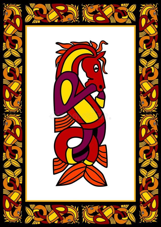 Blocco per grafici ornamentale celtico illustrazione di stock