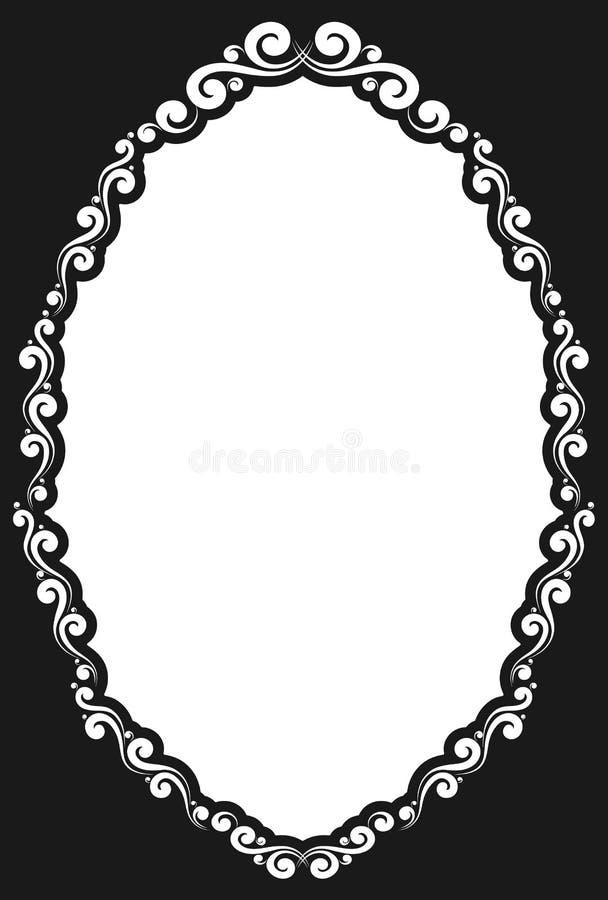 Blocco per grafici ovale decorativo dell'annata illustrazione vettoriale