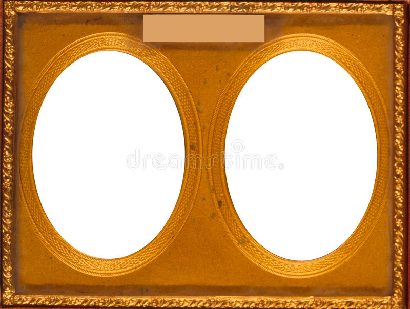Struttura ovale doppia fotografie stock libere da diritti