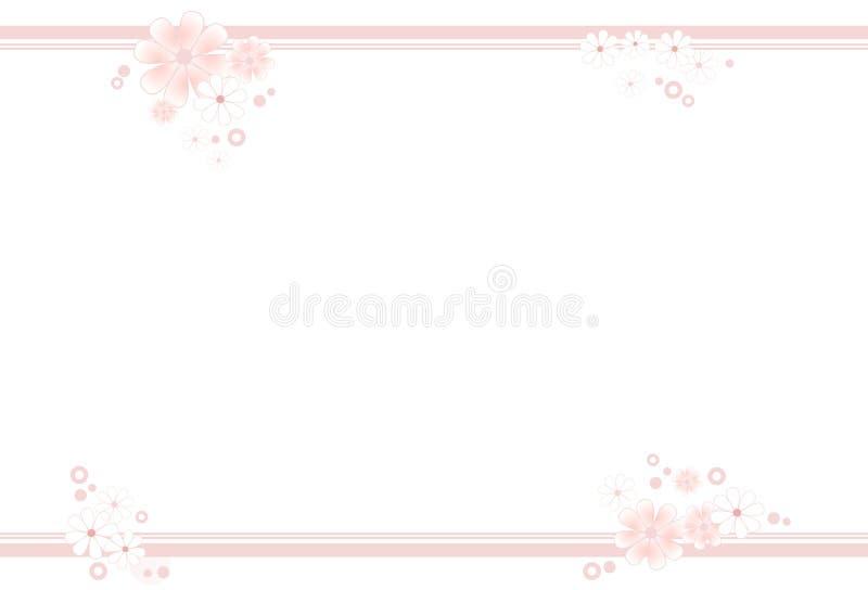 blocco per grafici Pastello-colorato del fiore illustrazione vettoriale